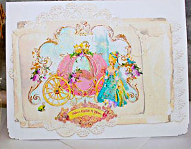 Marie Antoinette Once Upon A Time Cards Pink Pumpkin Coach Card Set or Invitation Set