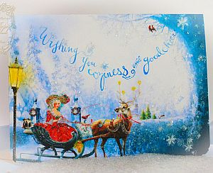 Marie Antoinette Coziness and Good Cheer Christmas Card Set of 6 with Envelopes