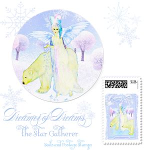 DREAMER OF DREAMS THE STAR GATHERER SEALS AND POSTAGE STAMPS 300.jpg