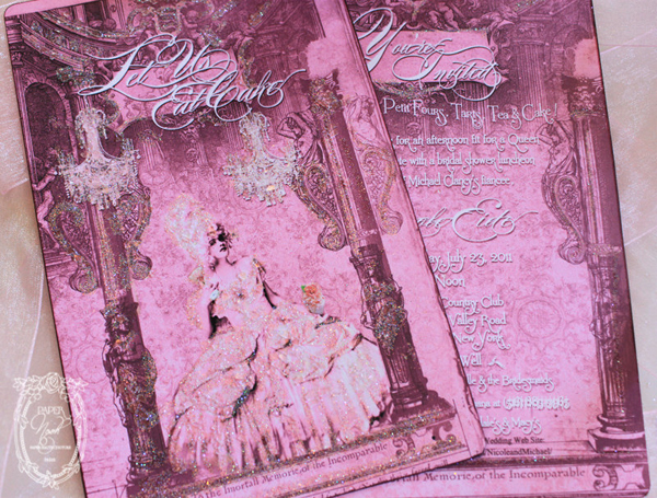 Immortal Memorie of the Incomparable for Marie Antoinette French Stationery