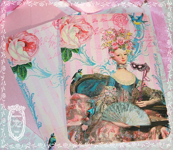 Marie Antoinette French Masquerade Floral Soiree Pink Invitations or Stationery Card Set