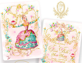 Marie Antoinettes Danse Party Invitations and Pink Pearl Envelopes