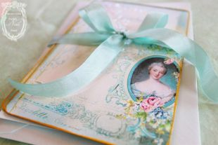 Madame de Pompadour Letters of Passionnante Card or Invitations Set
