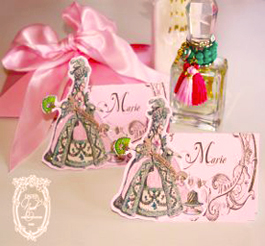Marie Antoinette Die-cut Placecards