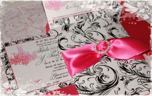 Marie Antoinette Pink Chandelier Invitations and RSVP copyright Paper Nosh 2010 200.jpg